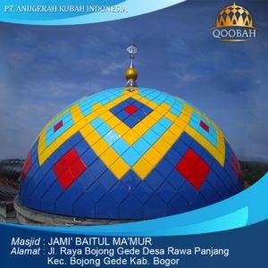 kubah masjid Bogor Bojong Gede