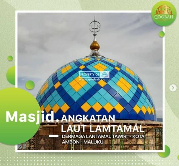 desain kubah masjid enamel