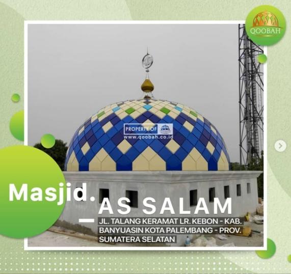 desain kubah masjid galvalum